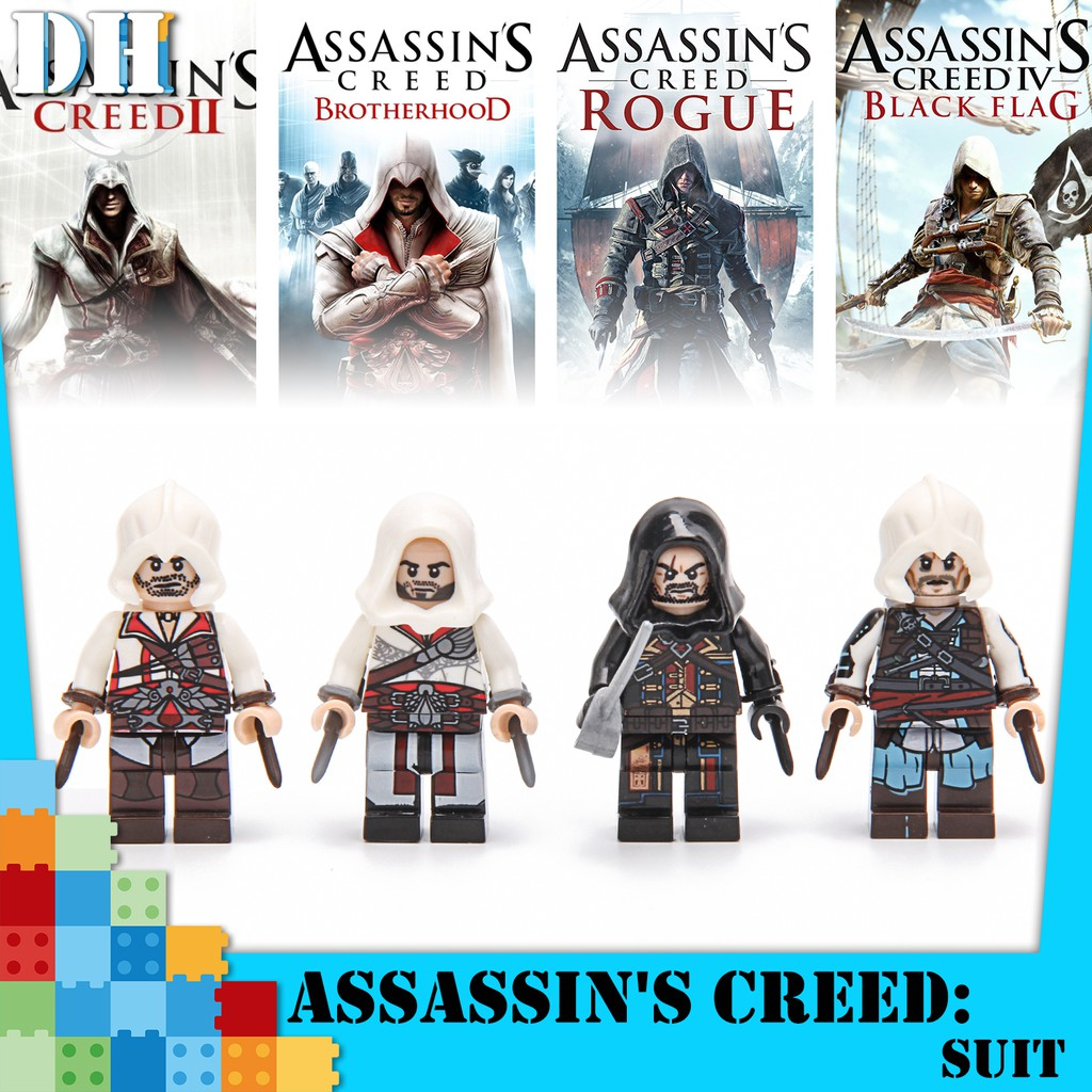 Assassin S Creed Mainan Minifig Minifigure Lego Bootleg Blok