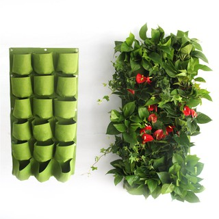 black 72 pot Senua Fabric Pocket Balcony Herbs Vertical Garden Wall Hanging Planter Bag