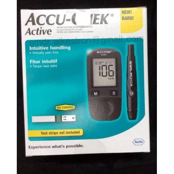 Terlaris - [] ACCU-CHECK ACTIVE / ACCU CHECK ACTIVE / ACCU-CHECK / ACCU CHECK / ALAT CEK GULA DARAH