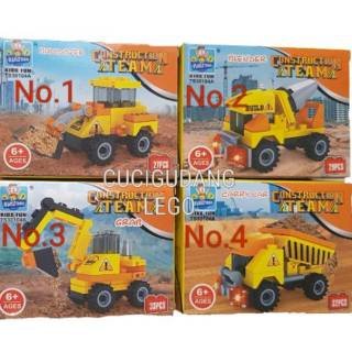 Mainan Bricks Blok Block Eskavator Construction Murah
