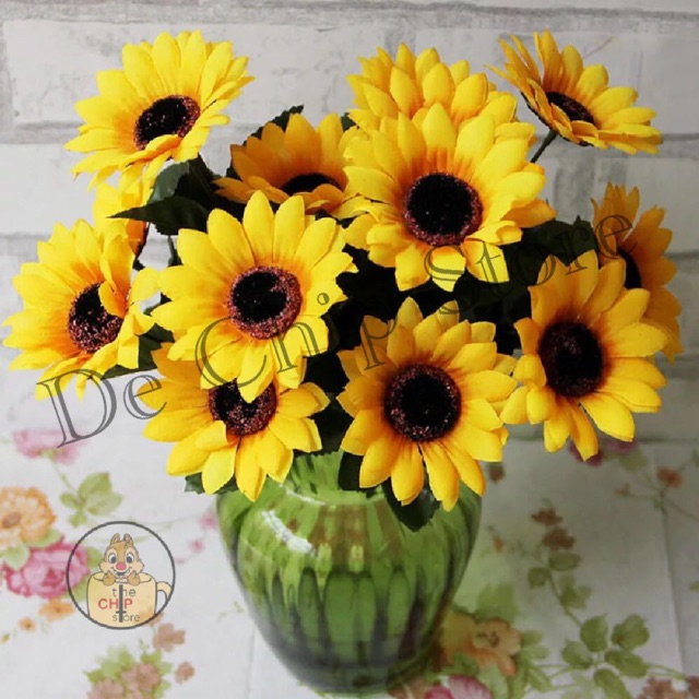Buket Bunga Matahari Matahari Artificial Flower Sunflower Shopee Indonesia