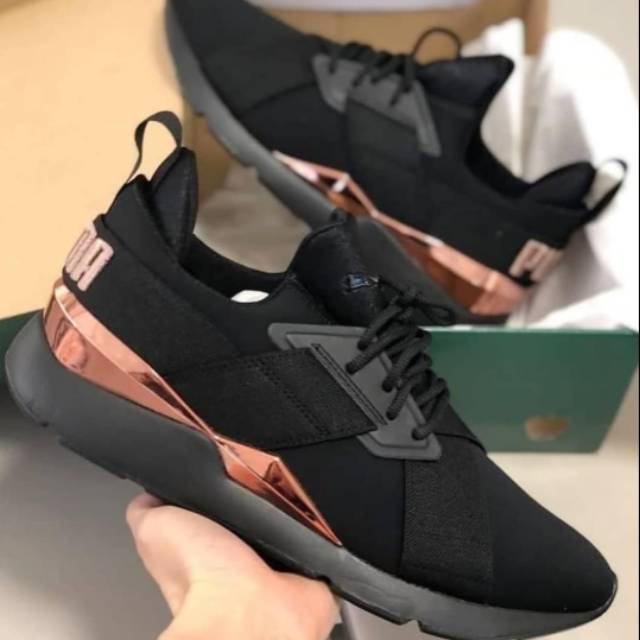puma muse 2 satin strap rose gold