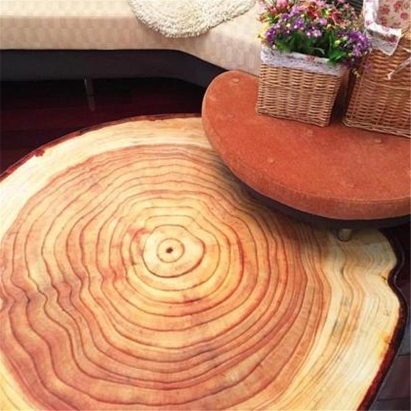 Antique Wood Tree Annual Ring Round