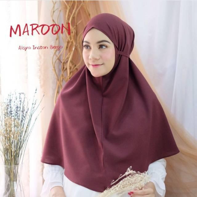 Aisyah Hijab Bergo Diamond Panjang Non Pet Bergo Maryam Instan Shopee Indonesia