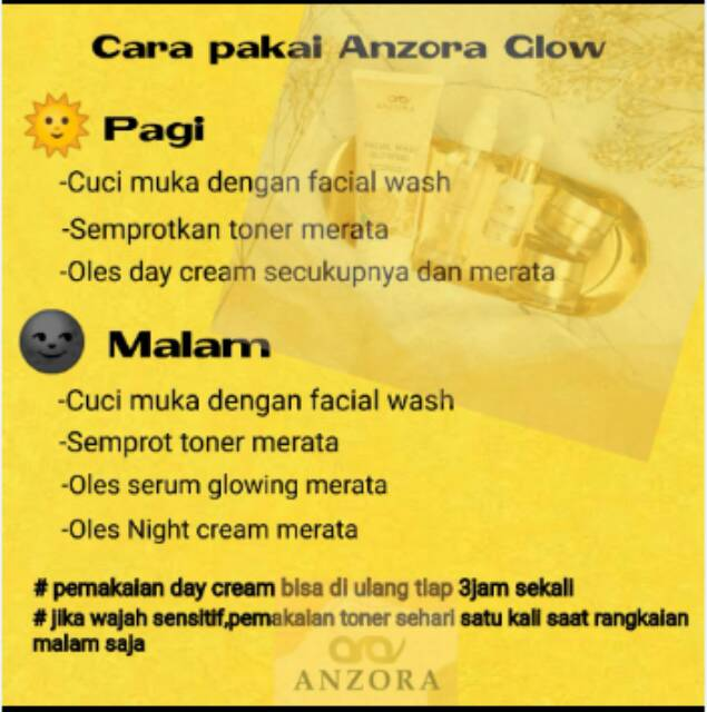 Anzora Skincare Anzora Glow Dan Anzora Acne Shopee Indonesia