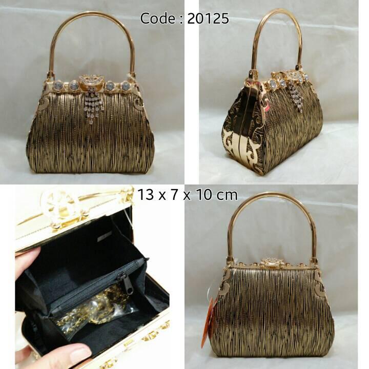 Tas Pesta Murah Wanita Handbag Permata 20289 Gold Free Rantai Panjang  654c5273bc