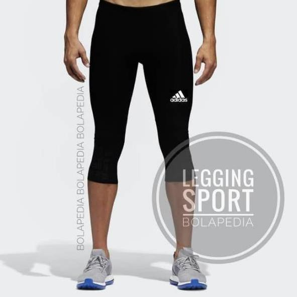 05776 Celana Legging Pria Sport 3 4 Futsal Gym Training Shopee Indonesia