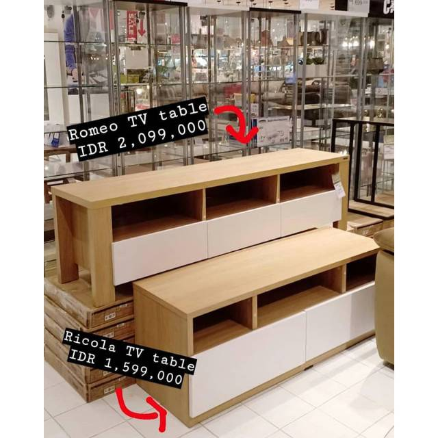 Romeo Ricola Tv Table Meja Tv Informa Murah Minimalis Rak Tv Putih Shopee Indonesia