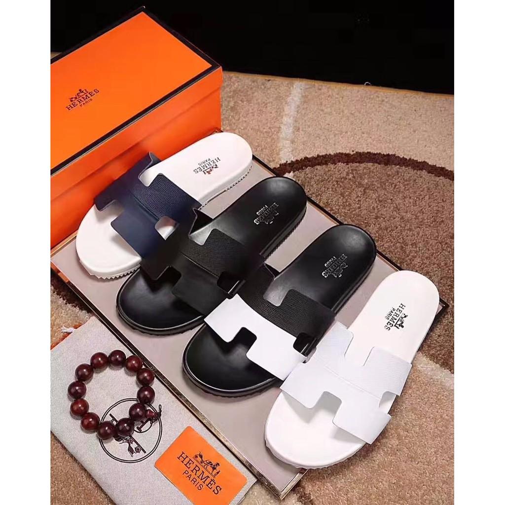 CUCI GUDANG Sepatu sendal sandal pria cowok hermes ori kulit super mirror  1 1 LIMITED  ffd55eafd8