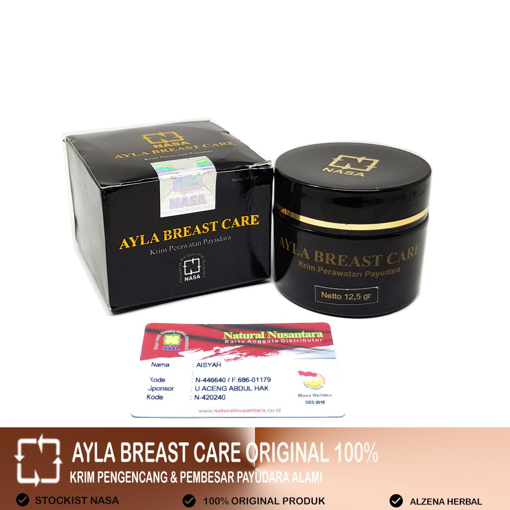 Ayla Breast Care Nasa Herbal Original Shopee Indonesia