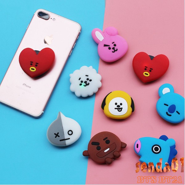 Holder Handphone Desain Bt21 Smartphone Luminous Bts Lazy Bracket