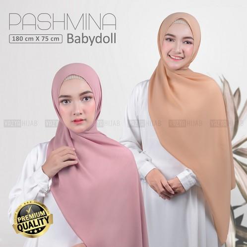 Jilbab Pashmina Ceruty Babydoll 180x75 Kerudung Pasmina Ceruty Pasmina Ceruti Babydol Premium Shopee Indonesia