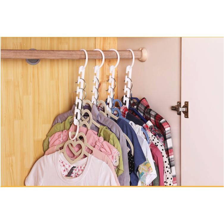 Magic Hanger gantungan baju gantungan ajaib wonder hanger 8 pcs E009
