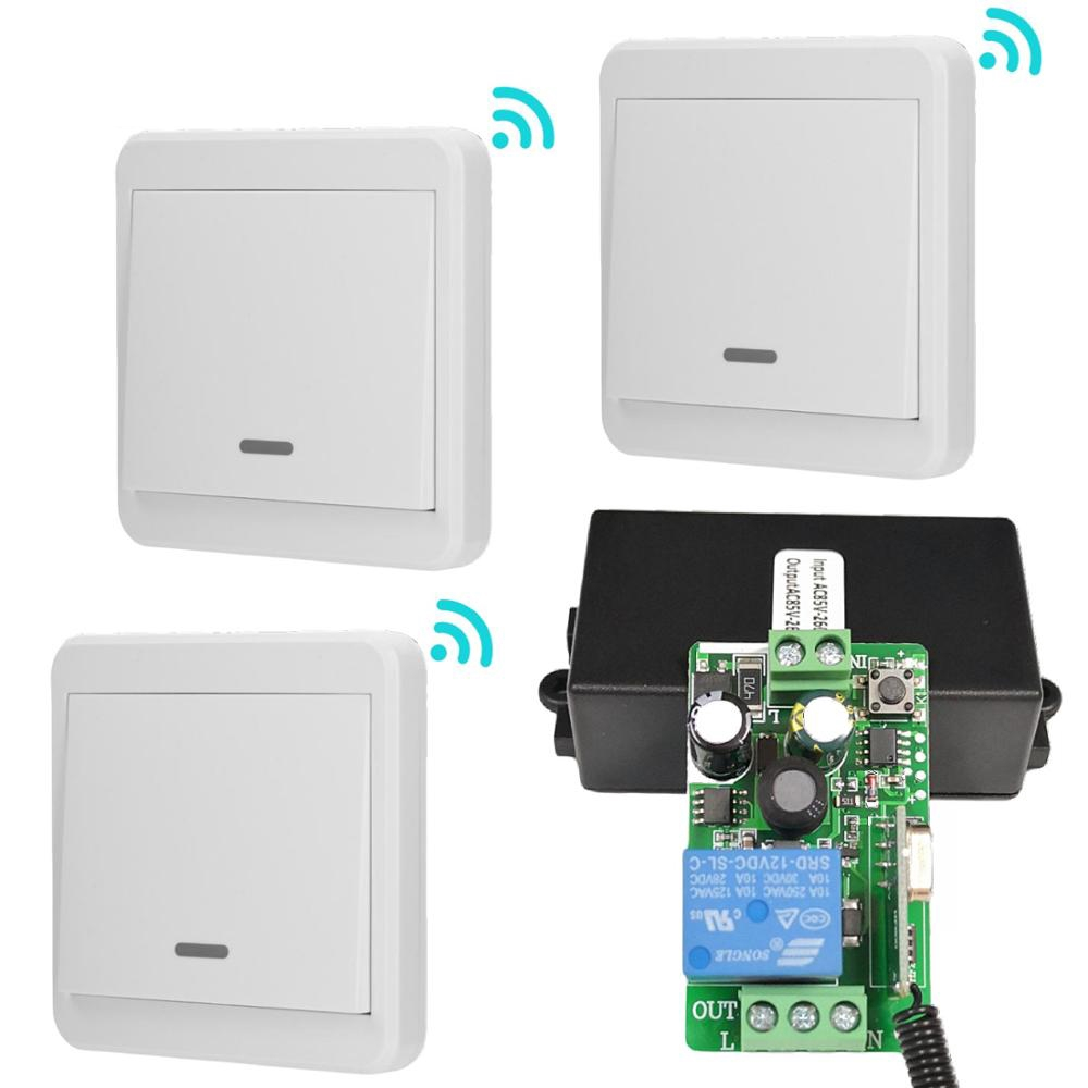 Wireless 433Mhz RF Remote Control 86 Wall Transmitter with LED For Light Switch
