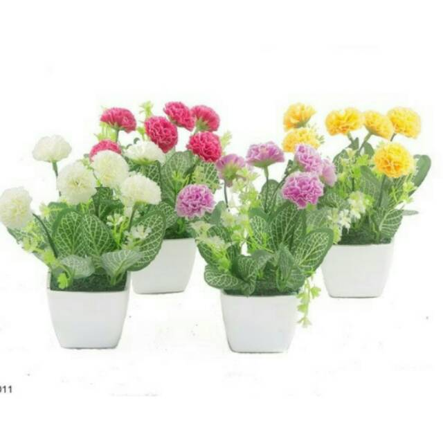 Bunga hias bunga anyelir hiasan meja vas bunga hiasan rumah bunga  artificial bunga plastik bunga  393193cc1b