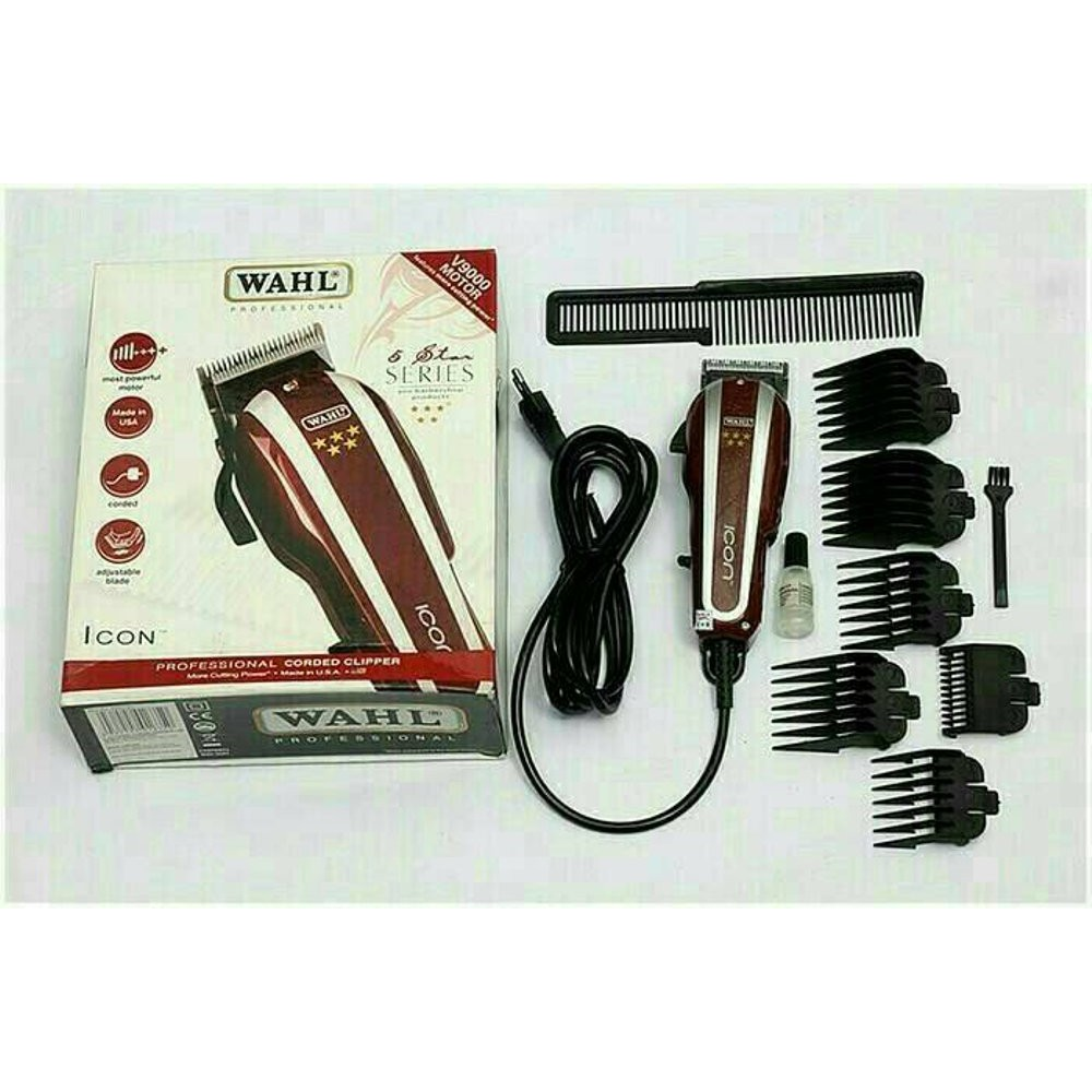 PROMO TERUS Alat Cukur Rambut Wahl Icon 5 Star Professional Clipper Made in USA | Shopee Indonesia