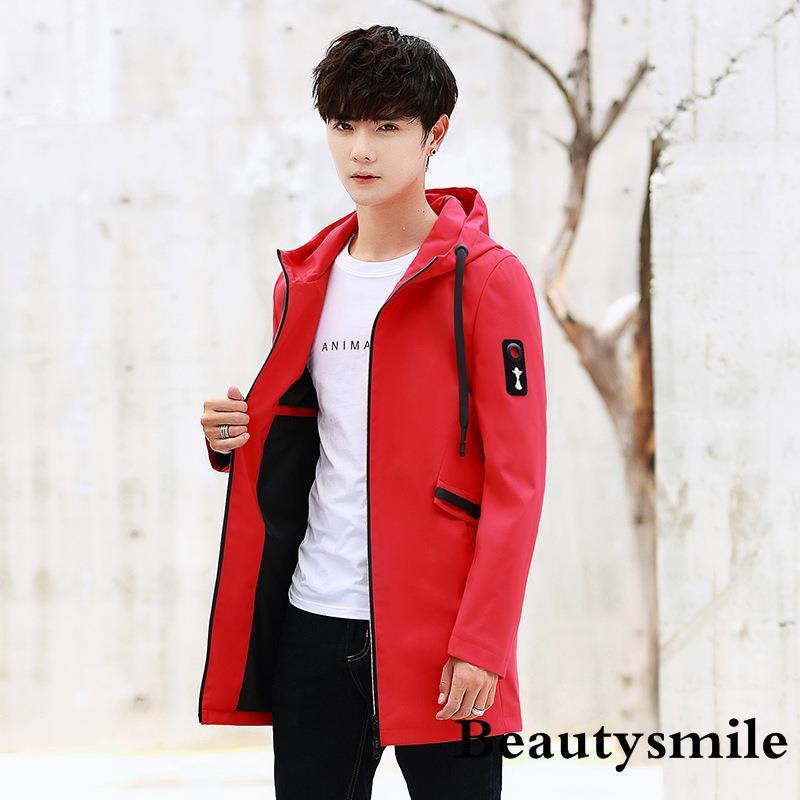 Versi Korea dari sweter rajut leher panjang musim gugur dan jaket pria musim dingin yang mengetuk