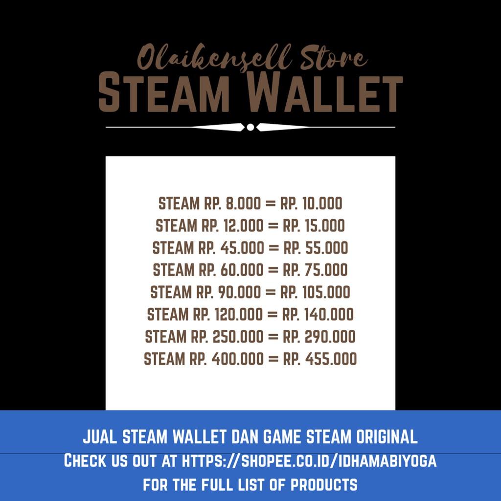 Steam Wallet Idr Murah 45k 60k 90k 120k Shopee Indonesia