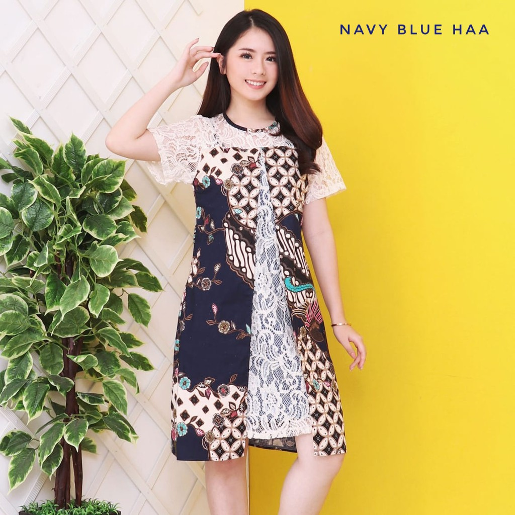 Dress Batik Modern Kombinasi Brokat Dress Batik Brokat Premium Dress Batik Premium Lace