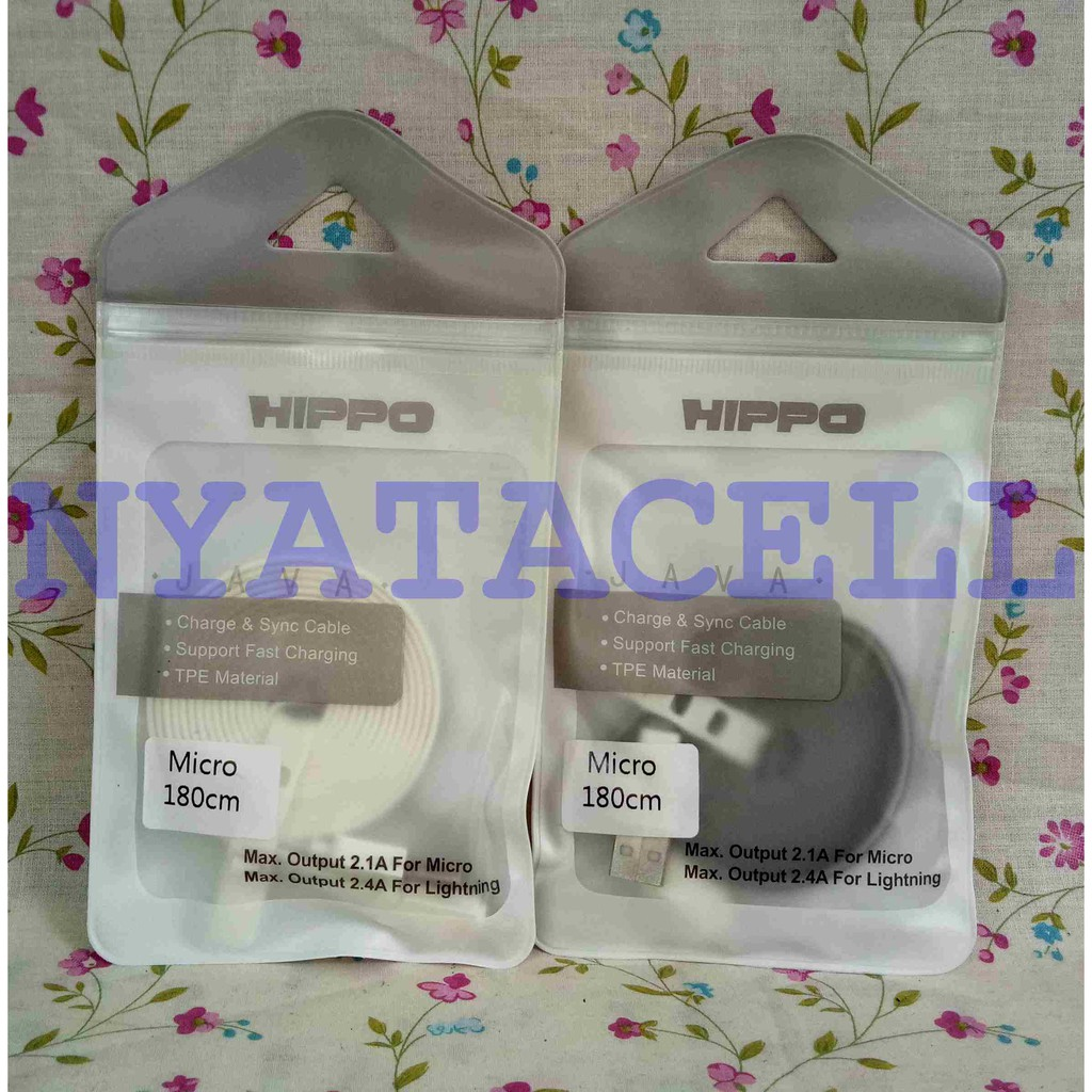 Kabel Data Hippo Valley 2 Iphone 100cm Toples Fast Charging Cable Micro 100 Cm Tanpa Dus Charger Garansi Blue Shopee Indonesia