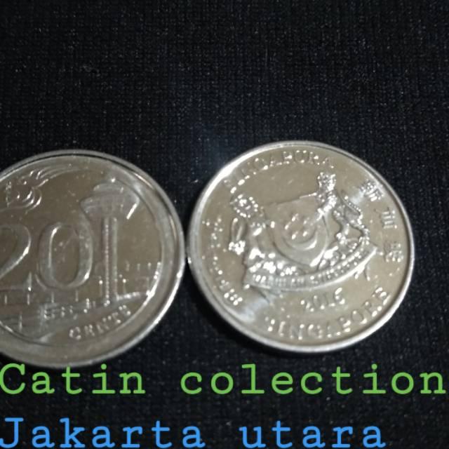Gambar Uang Koin Singapura Sh 190 Uang Koin 20 Sen Singapura Shopee Indonesia