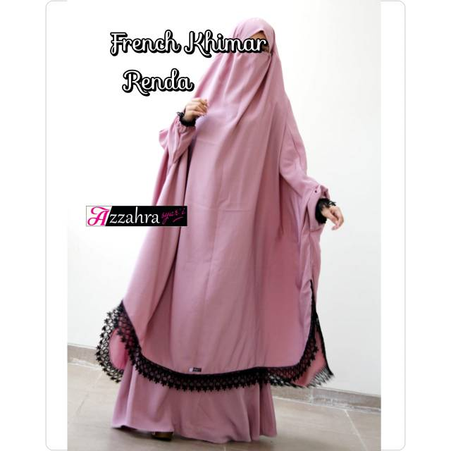 French Khimar Renda By Azzahra Shopee Indonesia