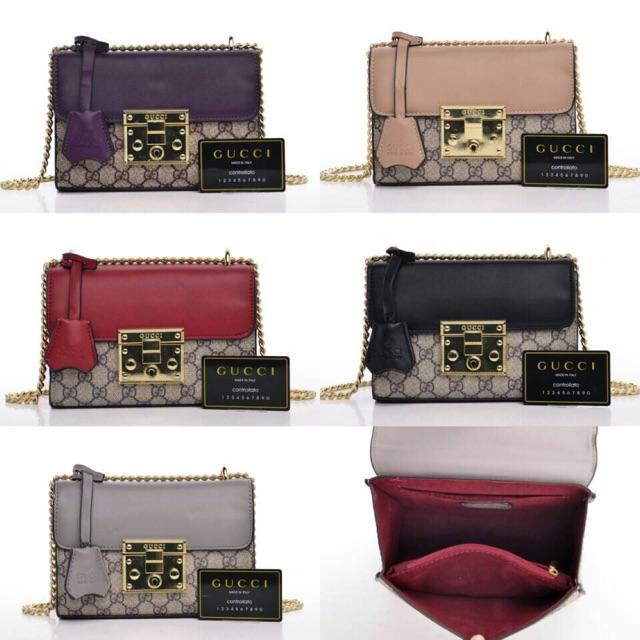Gucci Padlock GG Supreme Shoulder Bag - Tas Wanita  2d63bf5316