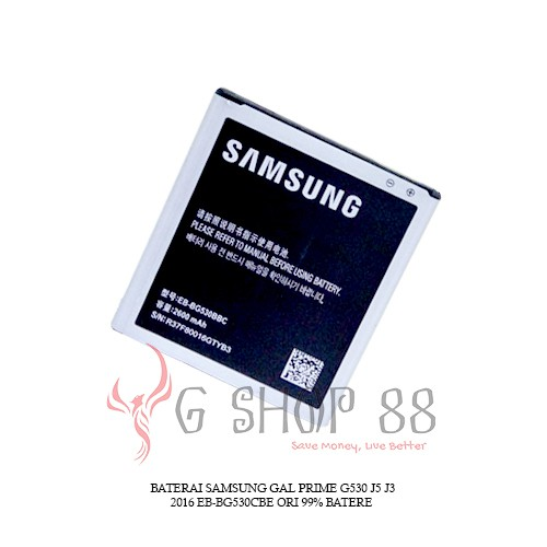 BATERAI BATTERY ORIGINAL SAMSUNG GALAXY GRAND PRIME G530 J5 2015 J3 2016 J3 Pro J2 Prime Batre | Shopee Indonesia