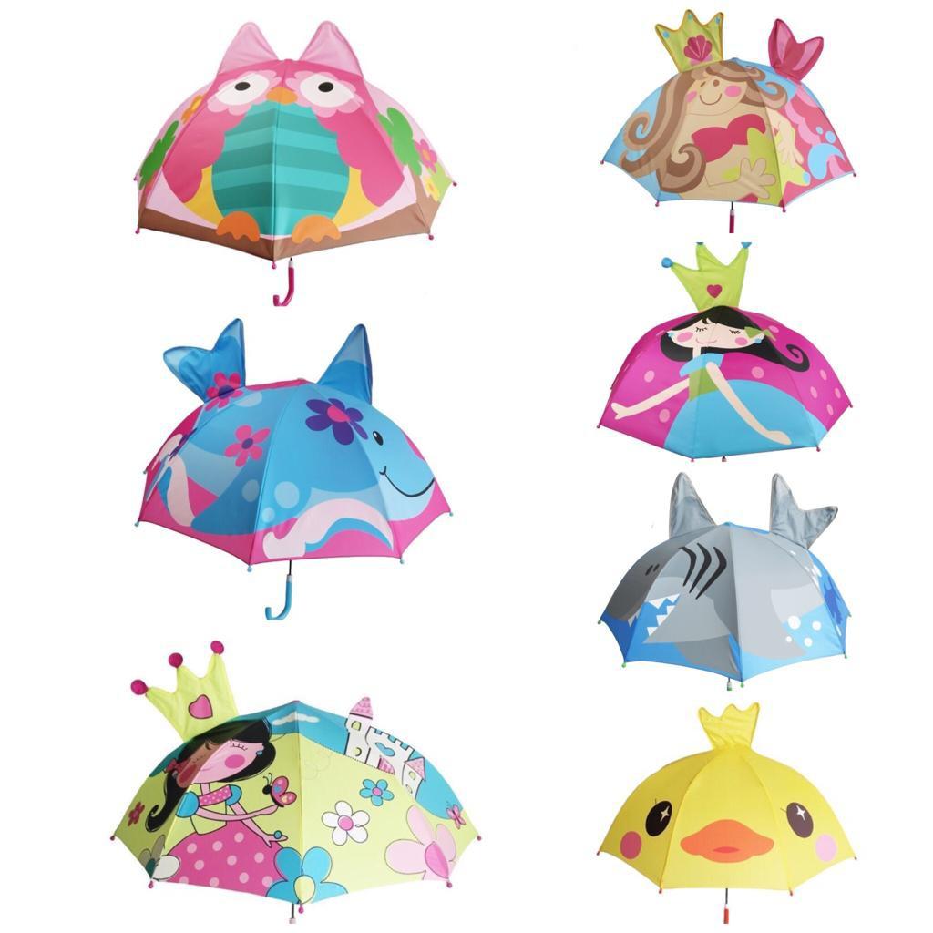 Payung Anak Lucu Unik Umbrella Lipat 3D Safari Varian 18 24 Total 24 Motif