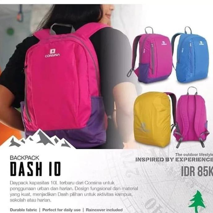 DISKON Consina Tas Dash 10L Consina Backpack Dash 10 liter Original ... ae6d2c8a37