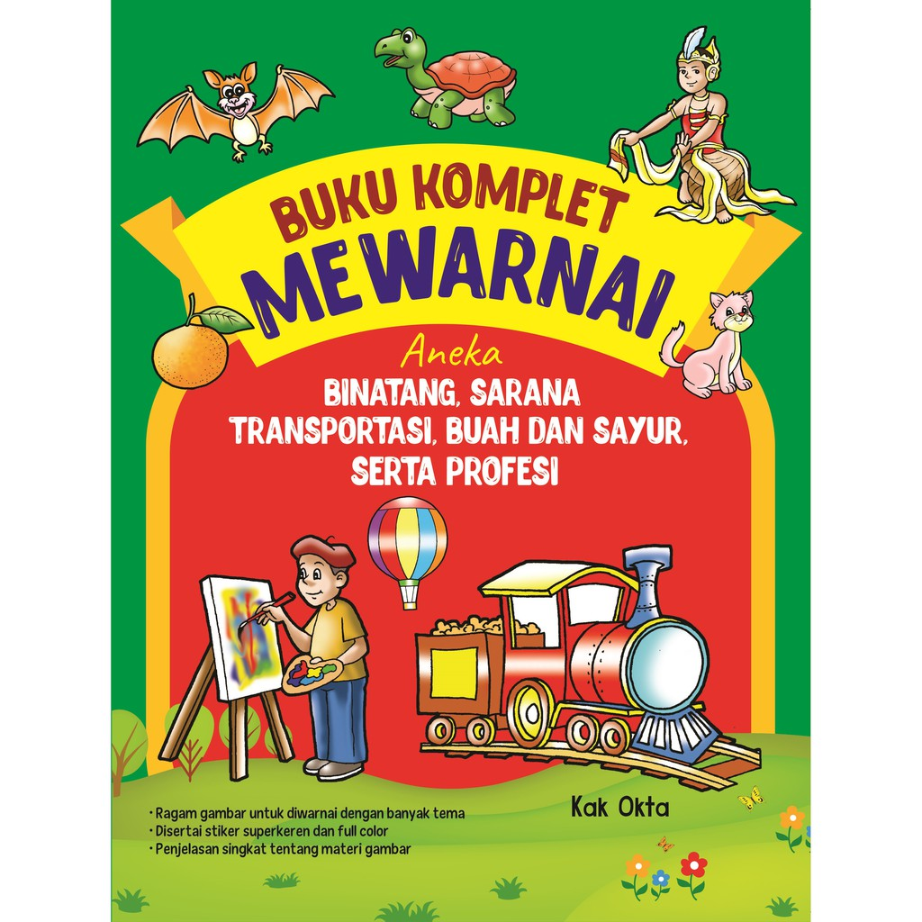 Buku Komplet Mewarnai Aneka Binatang Sarana Transformasi Buah