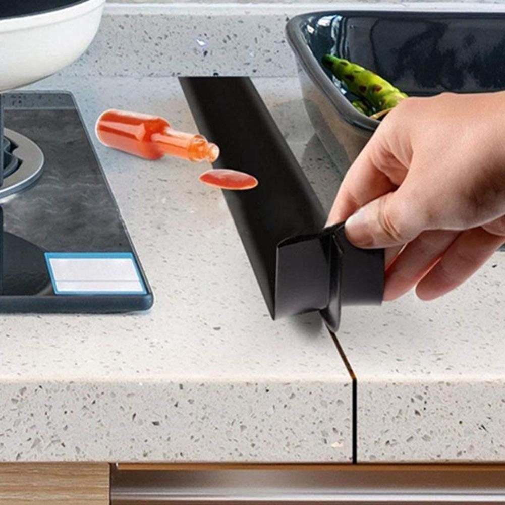Silicone Kitchen Stove Counter Gap Cover Oven Guard Spill Seal Slit Filler 2pcs