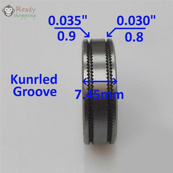 Las Drive Roller Welding Mig Welder Wire Feed Roll Parts 0 8 0 9 Shopee Indonesia