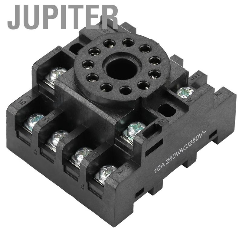 PF113A 11 Pins Power Relay Base Socket for JQX-10F JTX-2C Time Relay Relay Base