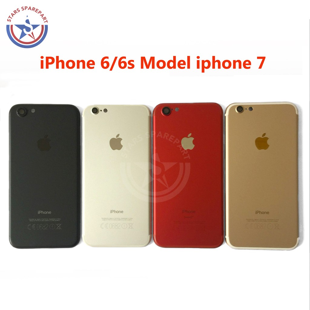 HOUSING   BACK CASING IPHONE 6 MODEL IPHONE 7 FULLSET ORIGINAL ... b83655a699