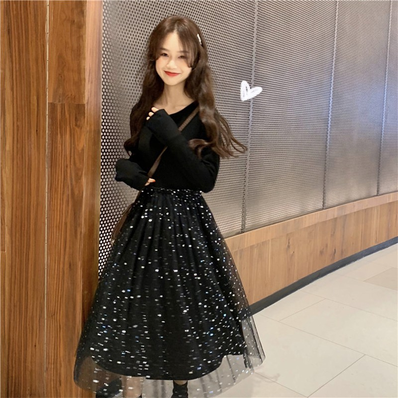 Gaun ceruk Perancis yang sangat peri musim semi perempuan 2019 versi Korea  baru  df8bb00d8c