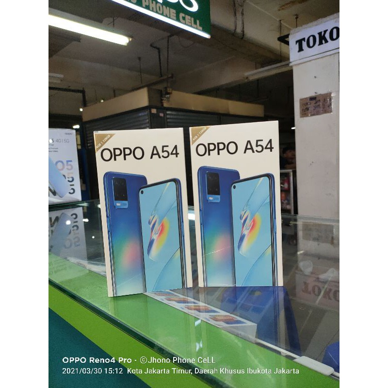 oppo a54 (ram 4gb internal 128gb)(ram 6gb/internal 128gb) garansi resmi oppo Indonesia