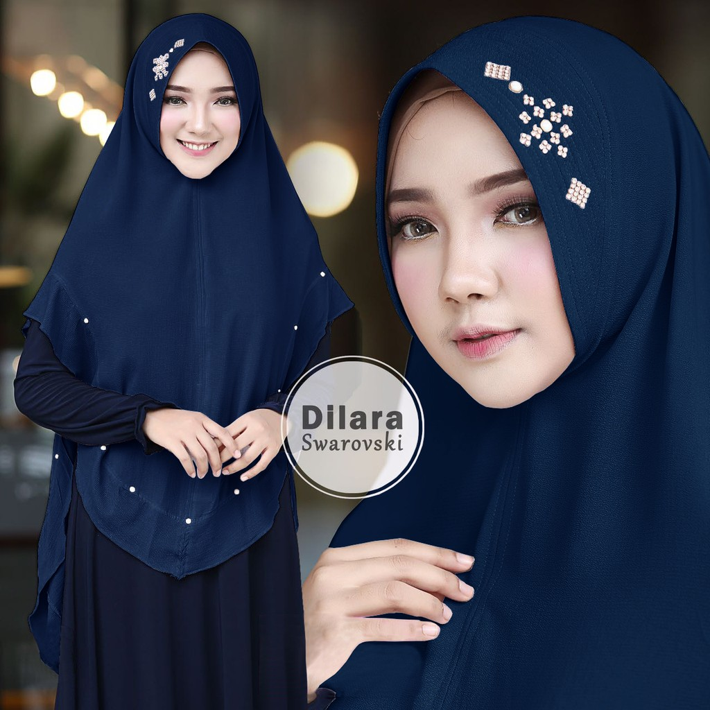 SP380457313 Hijab Khimar Dilara Swarovski - Blanja.com