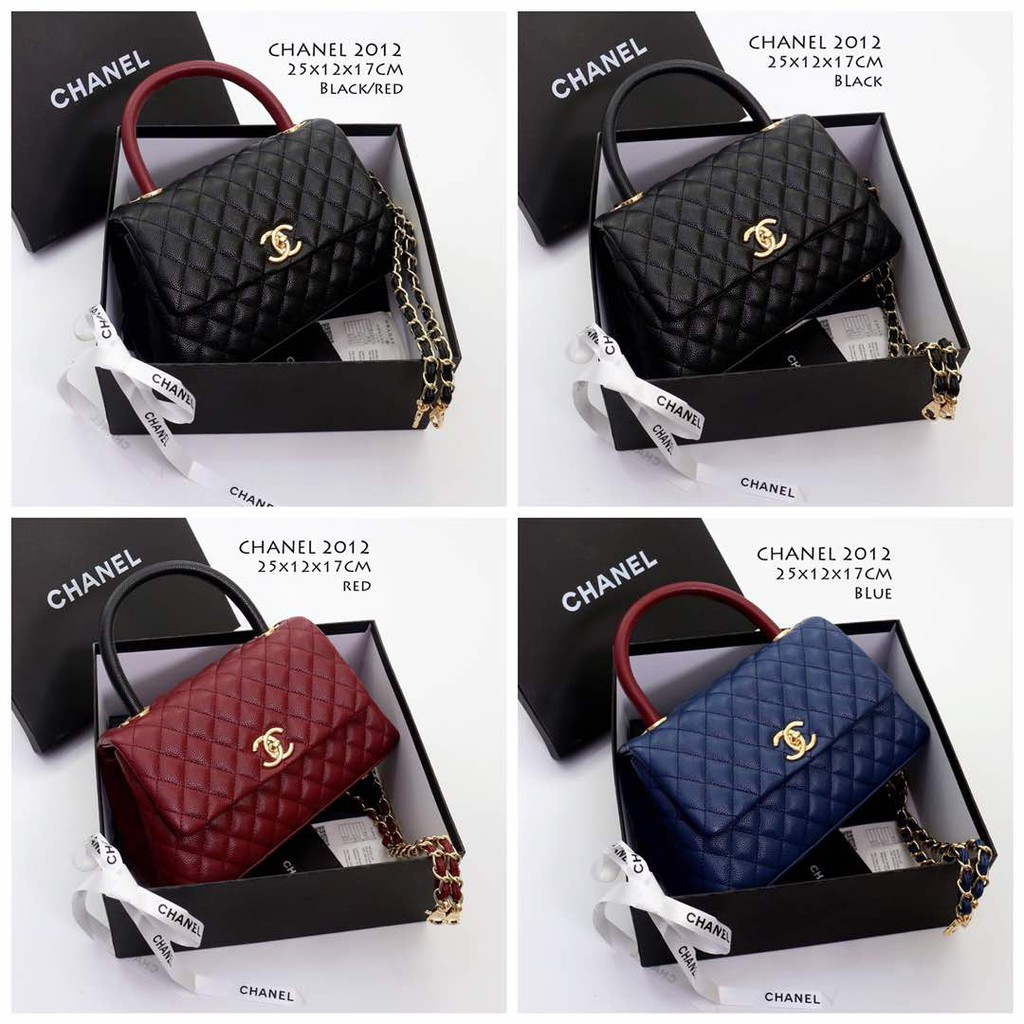 b5f6d0c36d88 TAS BRANDED IMPORT MURAH - Tas Chanel Coco Top Handle Caviar Medium HITAM  SempremAC1146   Shopee Indonesia