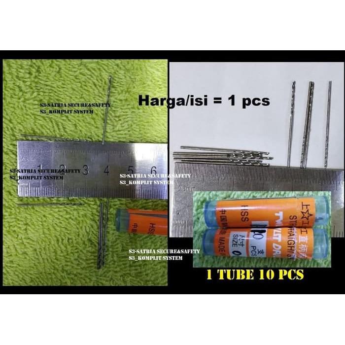 HSS Micro Mini Drill Bits 0.8mm 10 pack