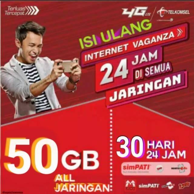 Paket Data 50gb Telkomsel Murah Kuota 50gb Tsel Paket Internet 50gb Full 24jam 30 Proses 2 5 Hari Shopee Indonesia