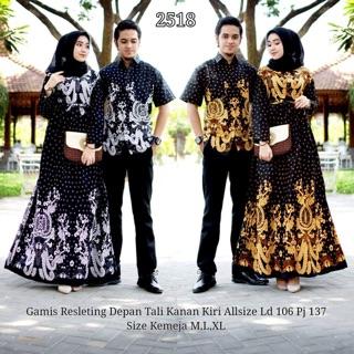 Sarimbit (couple) gamis etnik motif sogan api murah allsize dan kemeja Bisa dibeli terpisah | Shopee Indonesia