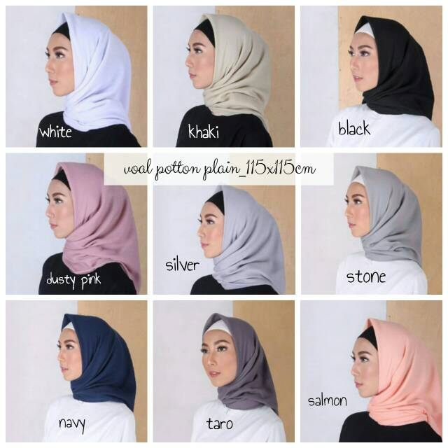Hijab Bahan Voal Polos 30
