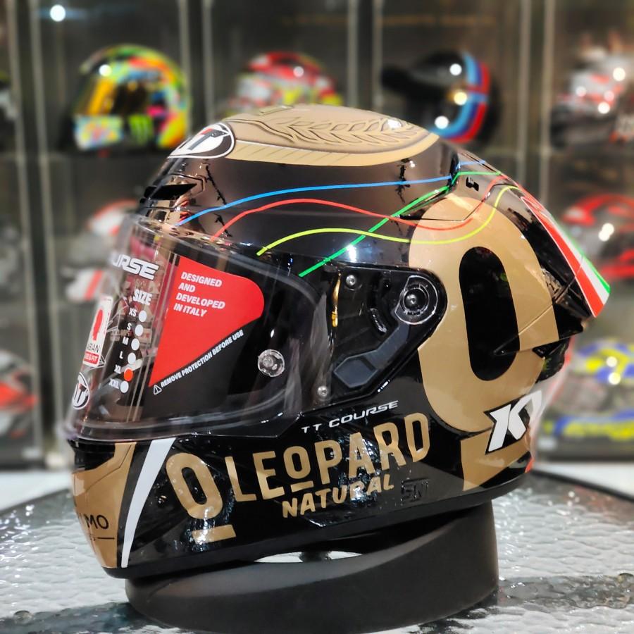 KYT TT Course repaint leopard gold