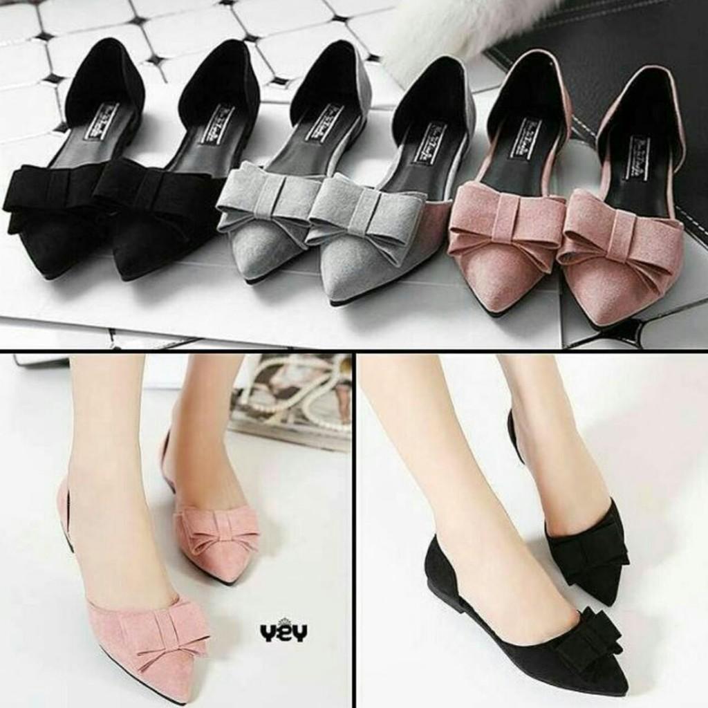 Sepatuafa - Flat shoes teplek Wanita Pita MC08 BP01  2efb192b76