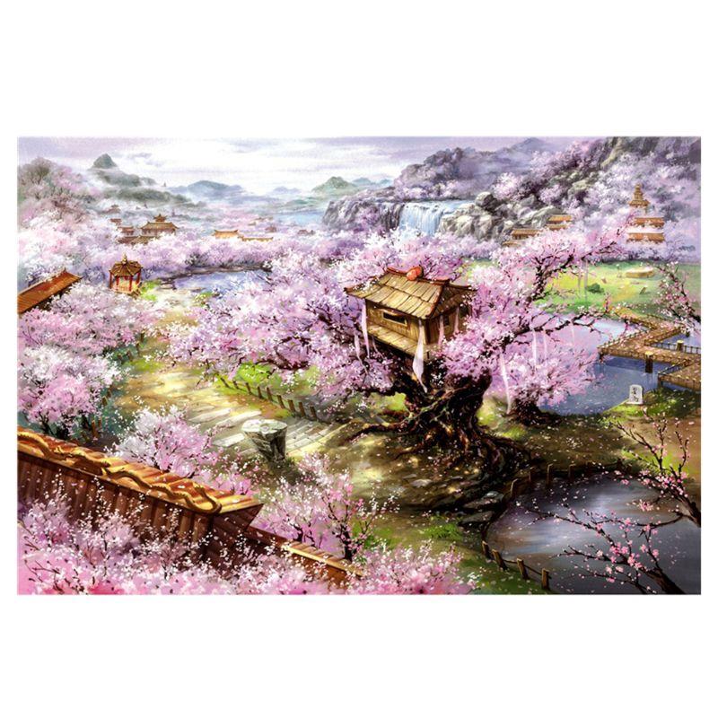 Dkx 1000pcs Mainan Jigsaw Puzzle Kertas Gambar Bunga Sakura Untuk Edukasi Anak Dewasa Shopee Indonesia