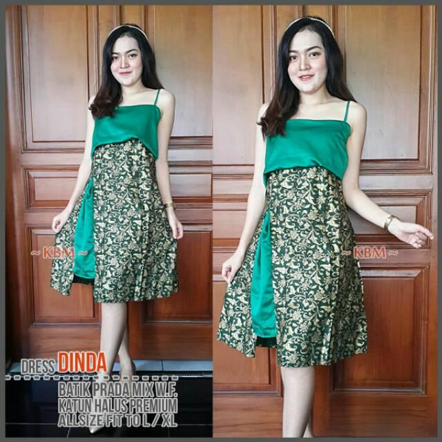 Dress Batik Pesta Dress Mini Dress Kondangan Shopee Indonesia