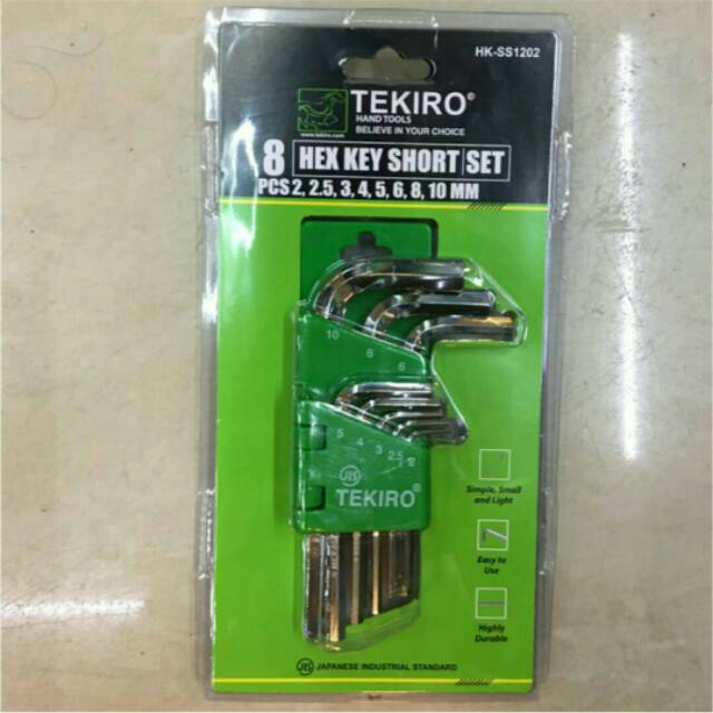 Kunci L Hex TEKIRO ECERAN SATUAN 5 / 6 Mm | Long Key Hexagonal Panjang Motor Mobil Tools | Shopee Indonesia