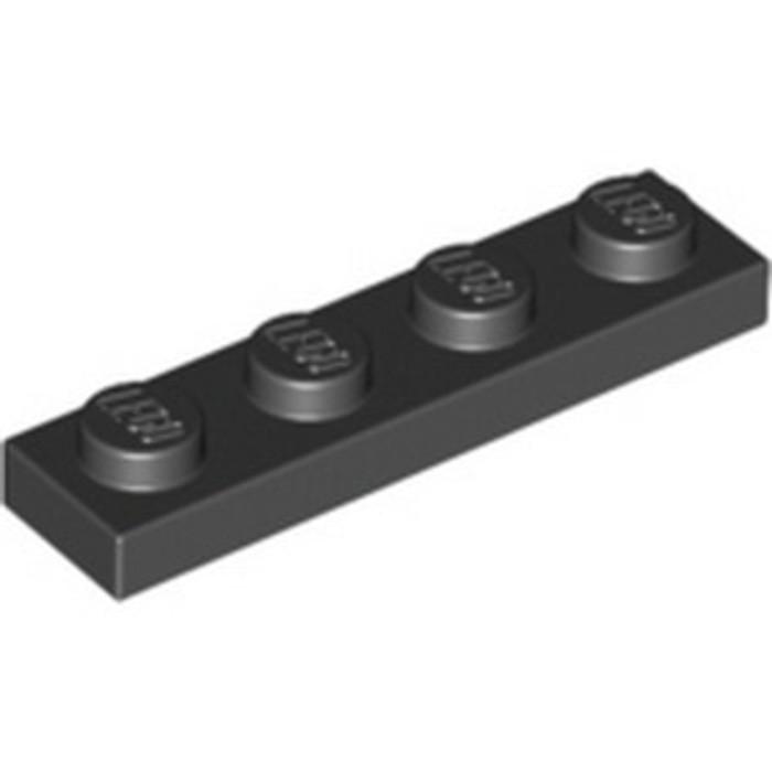 LEGO® Black Plate 1 x 4 Part 3710