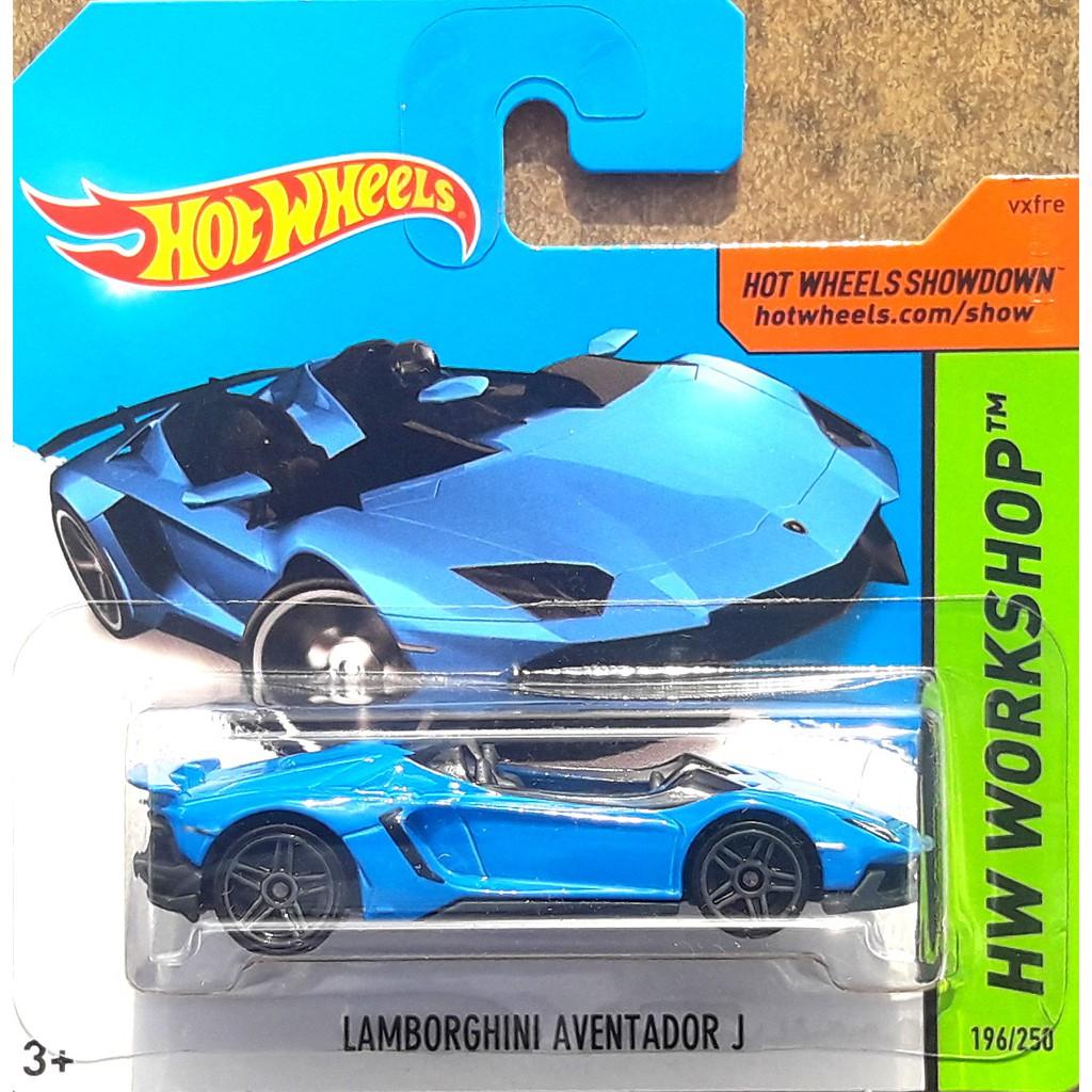 Hotwheels Lamborghini Aventador J 2014 Biru Short Card Reventon Huracan Trofeo Estoque Sport Car Shopee Indonesia